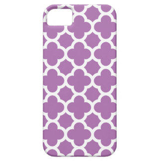 Purple Quatrefoil Trellis Pattern iPhone 5 Cover