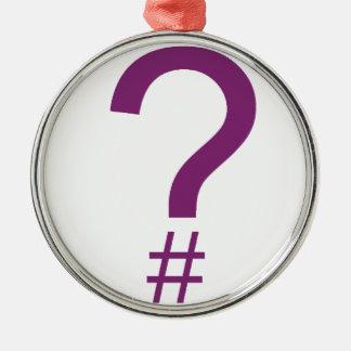 Purple Question Tag/Hash Mark Ornaments