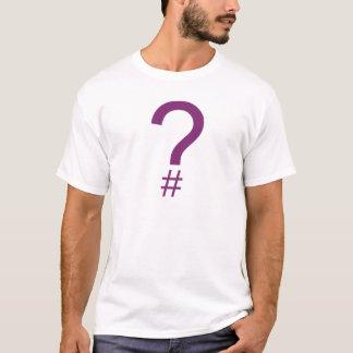 Purple Question Tag/Hash Mark T-Shirt