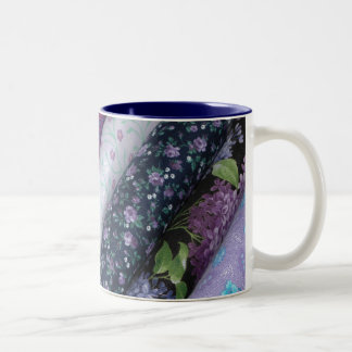 Purple Quilt Bolt Fabric Mug