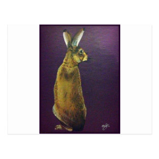 Purple Rabbit.jpg Postcard