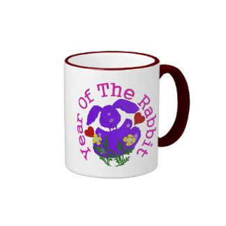 Purple Rabbit Ringer Mug