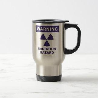 Purple Radiation Warning Stainless Steel Travel Mug