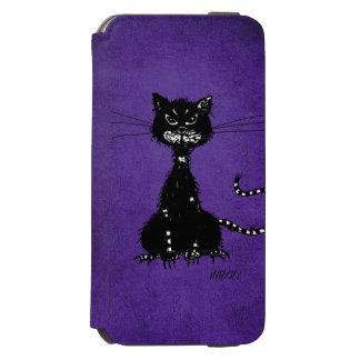 Purple Ragged Evil Black Cat Incipio Watson™ iPhone 6 Wallet Case