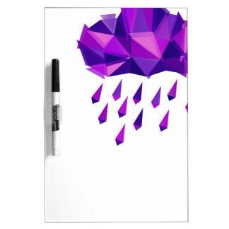 Purple Rain Contemporary Geometry Dry Erase Board
