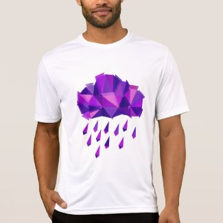 Mens Purple Rain Cloud T-shirt