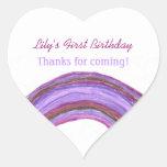 Purple rainbow 1st birthday sticker