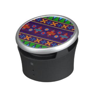Purple rainbow aztec tribal pattern bluetooth speaker