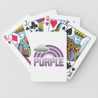 PURPLE RAINBOW DECK OF CARDS