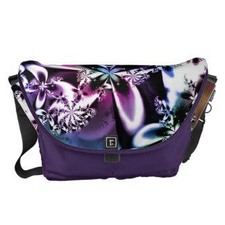 Purple Rainbow Fractal Flower Psychedelic Bag Courier Bag