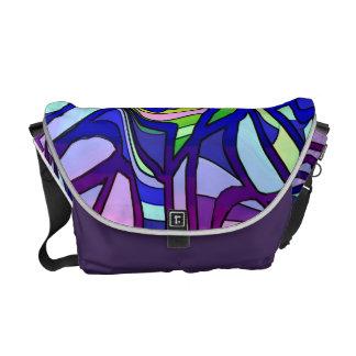 Purple Rainbow Messenger Bag