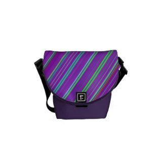 Purple Rainbow Rickshaw Messenger Bag