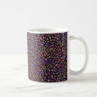 Purple Rainbow Rocaille Seed Beads Coffee Mug