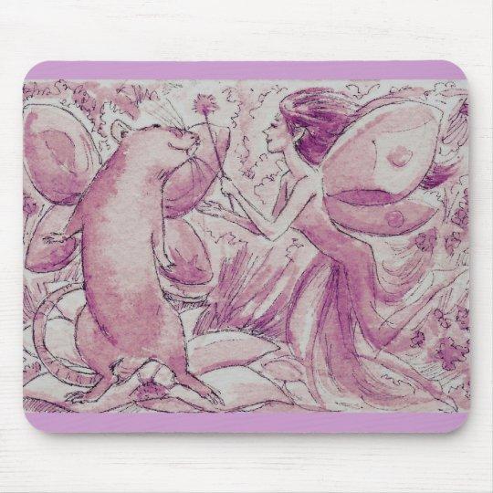 Purple Rat Fairy Mouse Mat