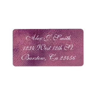 Purple Rattlesnake  Skin Stylish Classy Elegant Address Label