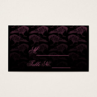 Purple Raven Gothic Wedding Place Card
