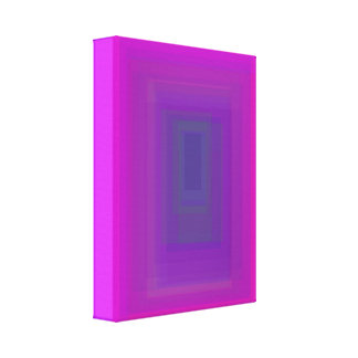 Purple Rectangle Stretched Canvas Print