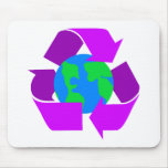 Purple Recycle Mouse Pads