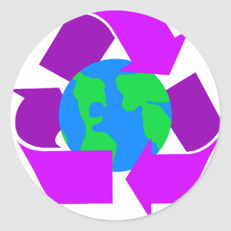 Purple Recycle Sticker