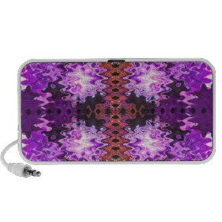 purple red abstract art laptop speaker