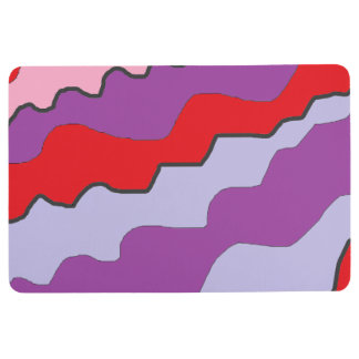 Purple, Red and Pink Floor Mat