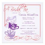 Purple & Red Bridal Shower Invitation - Tea