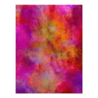 Purple Red Colorful Watercolor Abstract Background Photo Print