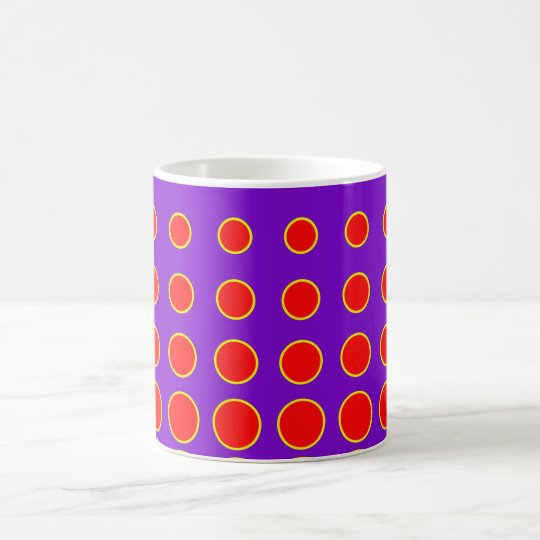 Purple & Red Colourful Vector abstract dot Coffee