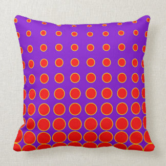 Purple & Red Colourful Vector abstract dot Cushion