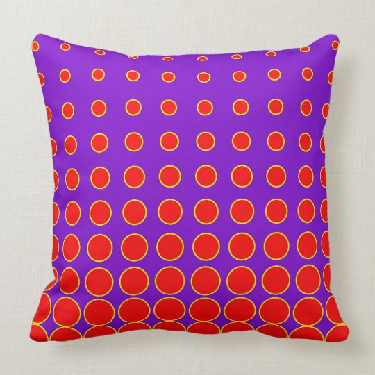 Purple & Red Colourful Vector abstract dot Throw Pillow