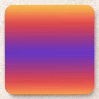 Purple Red Orange Gradient Stripes Coaster