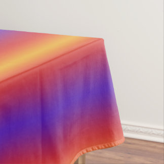 Purple Red Orange Gradient Stripes Tablecloth