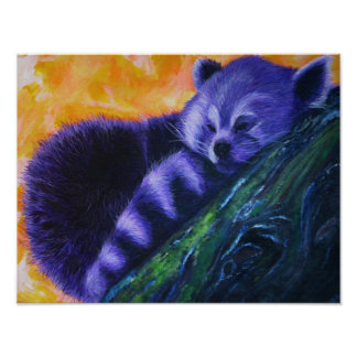Purple Red Panda Poster