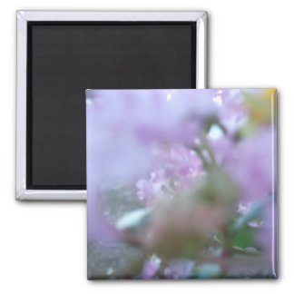 Purple Redbuds Abstract Square Magnet