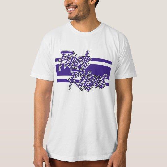 Purple Reigns N-Stripe on Men's Gear - T-Shirt