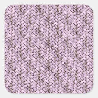 Purple Retro Basket Weave Texture Stickers