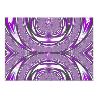 Purple Retro Design 13 Cm X 18 Cm Invitation Card
