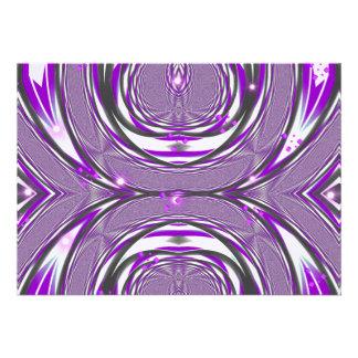 Purple Retro Design Invitations