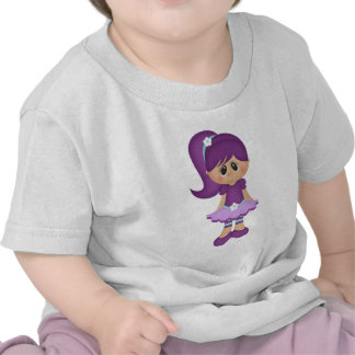 Purple Retro Girly Colorful Doll T-shirt