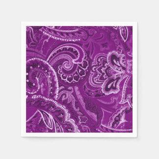 Purple Retro Paisley Bandanna/Bandana Disposable Napkin