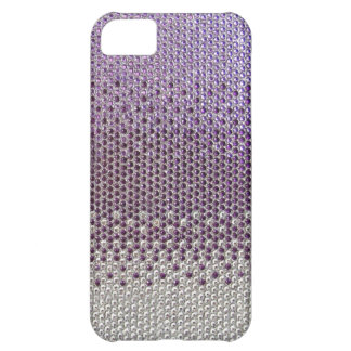 Purple Rhinestone Glitter Bling  iPhone 5 Case