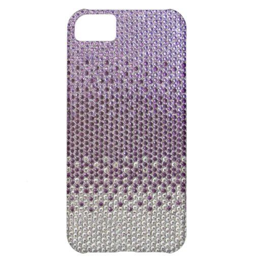 Purple Rhinestone Glitter Bling  iPhone 5 Case