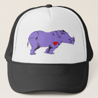 Purple Rhino Early LGBT Activism Symbol Trucker Hat