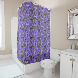 Purple Rhododendron Blooms Floral Shower Curtain