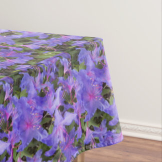 Purple Rhododendron Blooms Floral Tablecloth