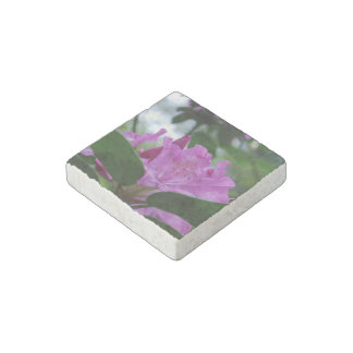 Purple Rhododendron Stone Magnet