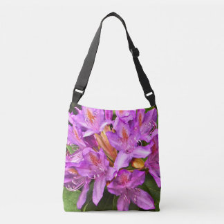 """PURPLE RHODODENDRON WITH SPLASHES OF ORANGE"" BAG"