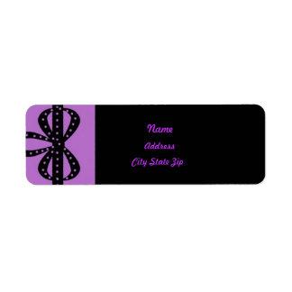 Purple ribbon address label