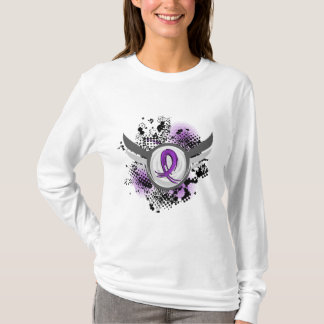Purple Ribbon And Wings Cystic Fibrosis T-Shirt