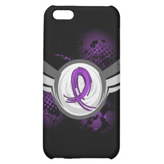 Purple Ribbon And Wings Pancreatic Cancer iPhone 5C Case